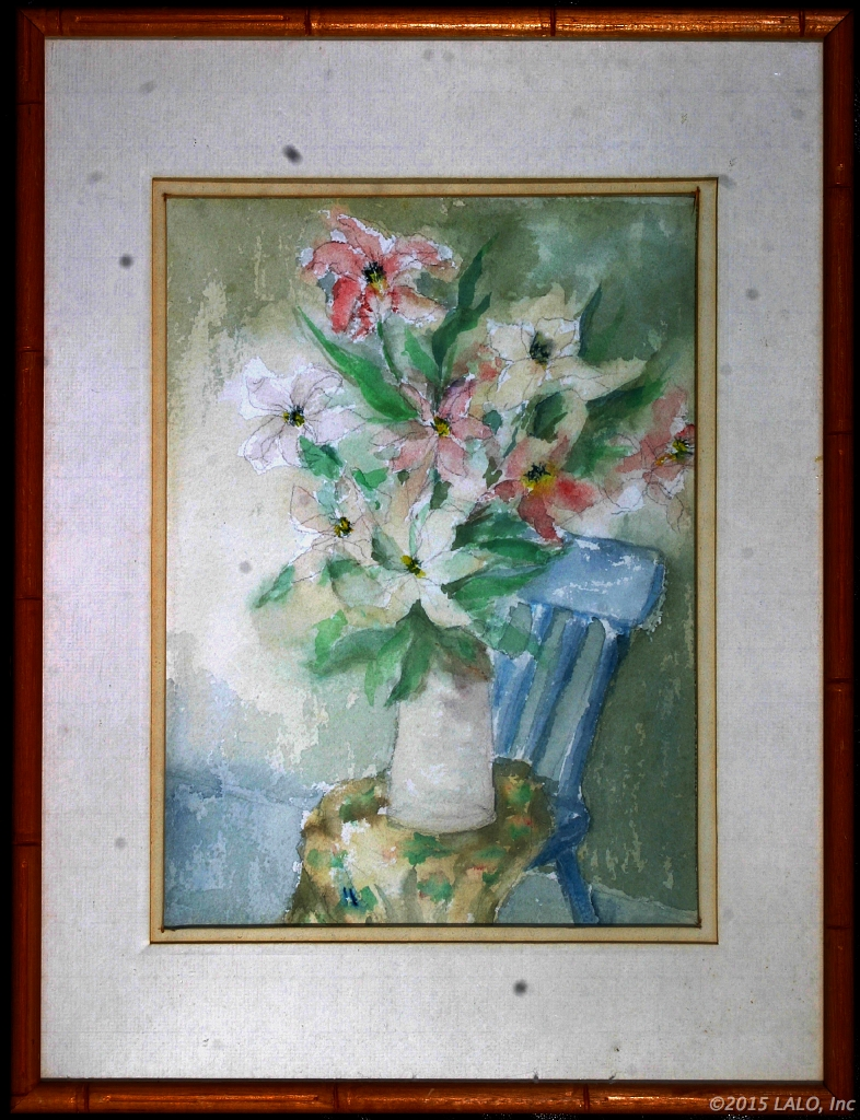 Flowers in Vase by Artist Unknown
