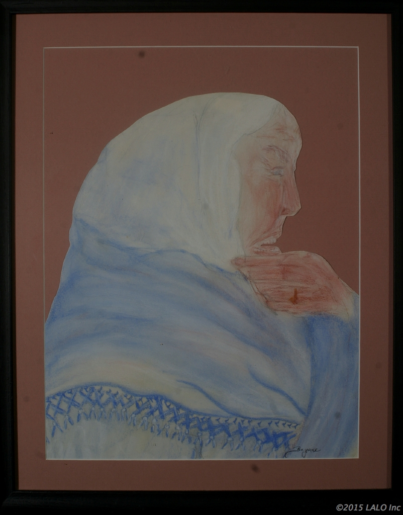 Anguished Old Woman by Bryane Lickson