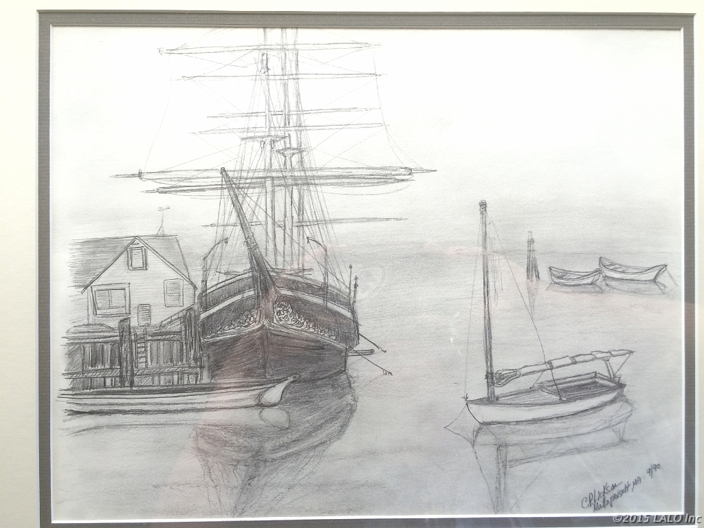 Mystic CT Harbor by Charles Lickson