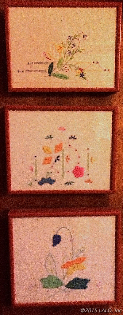 Three Small Embroideries by Mamie Fredericks
