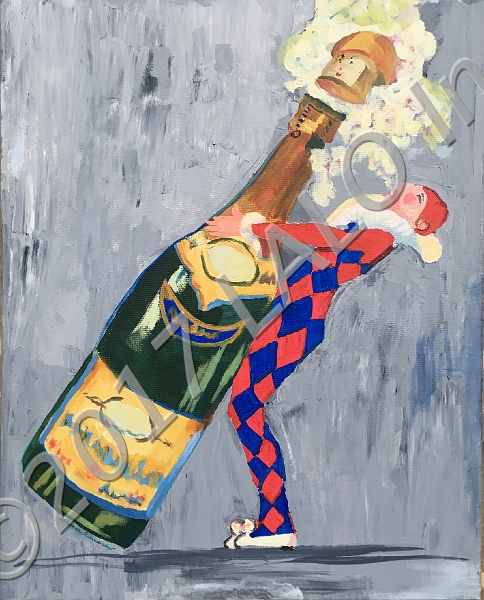 Champagne Celebration by Deborah Schneider
