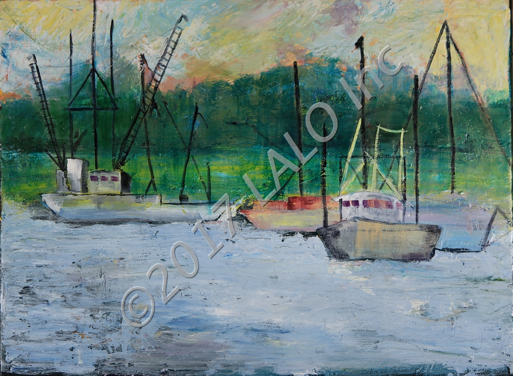Shrimp Boat by Deborah Schneider