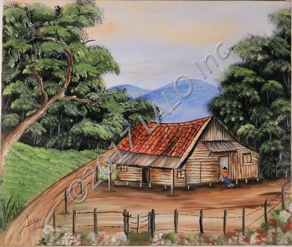Man By His Cottage by Lady Johnson Arias