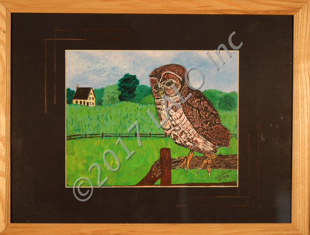 Owl at the Farm by Charles Lickson
