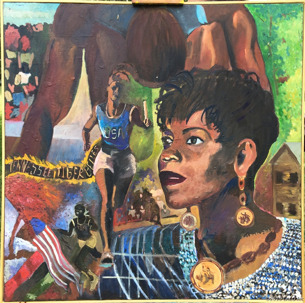 Wilma Rudolph Olympics by Clive Turner