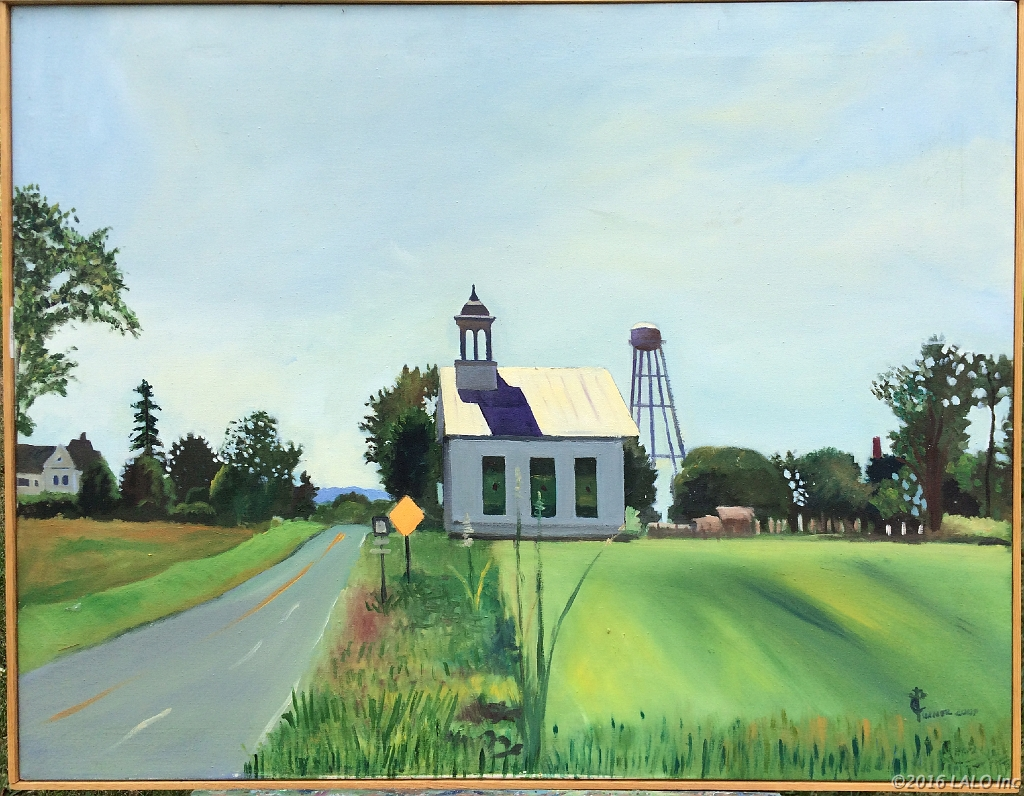 Route 11 Church by Clive Turner