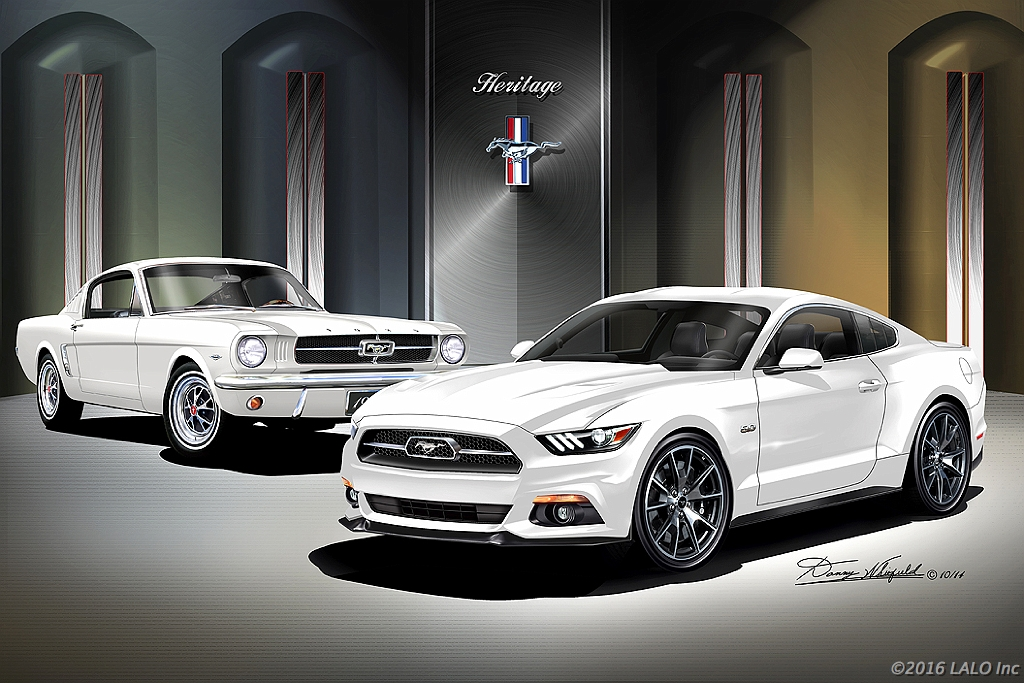 2015 Ford Mustang Gt 50th Anniversary  Heritage - Wimbledon White by Danny Whitfield