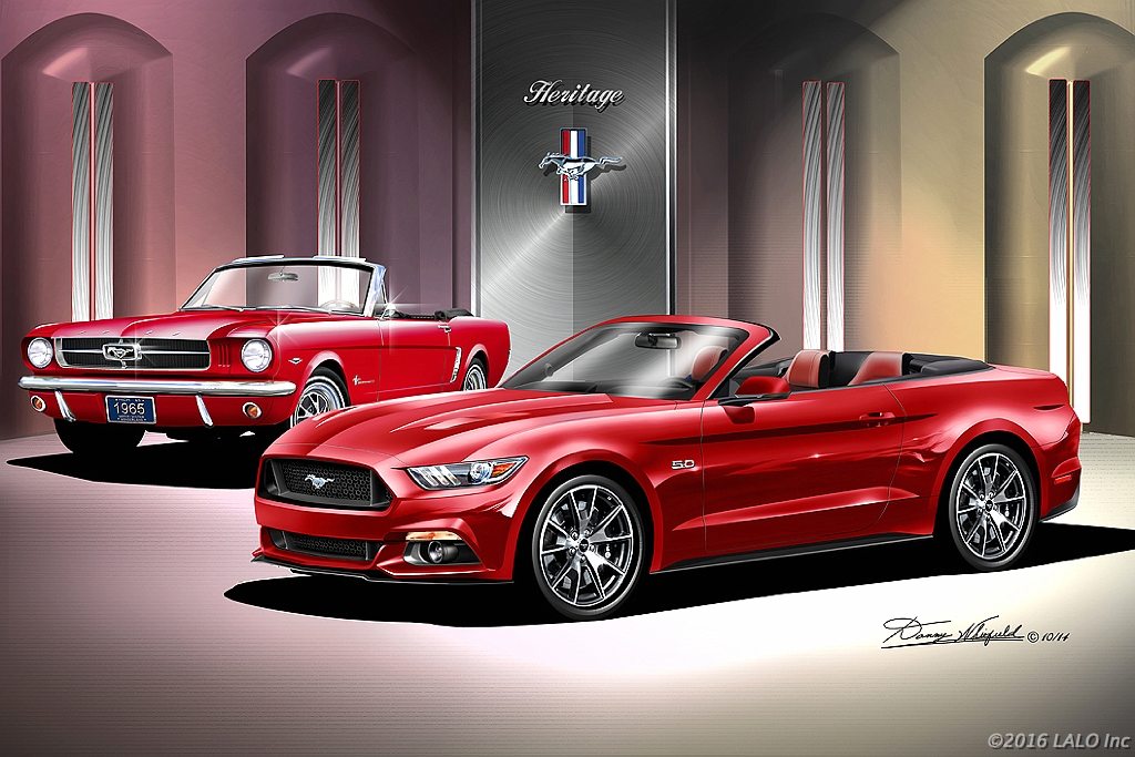 2015 American Mustang GT Heritage Convertible by Danny Whitfield