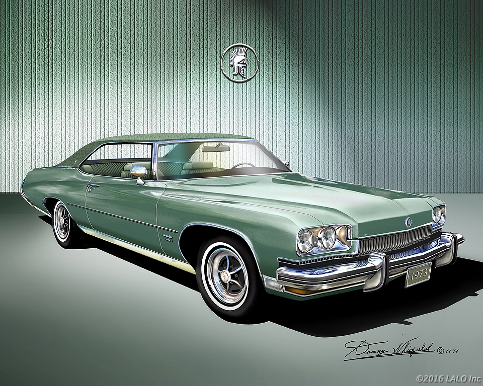 1973 Buick Centurion Hardtop - Willow Green by Danny Whitfield