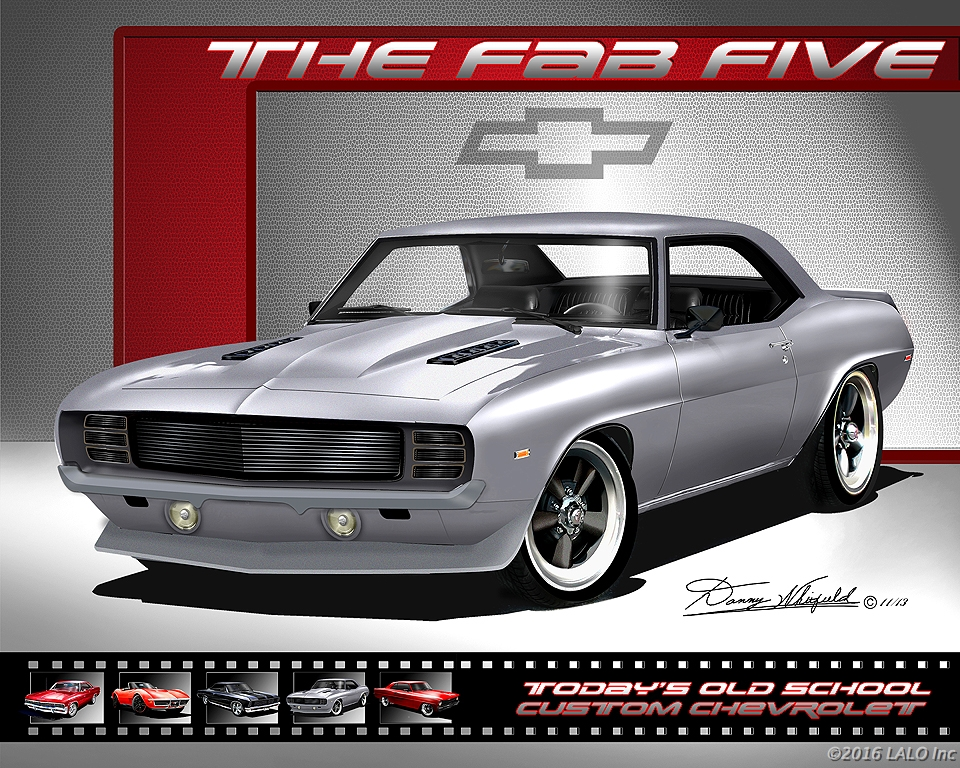 1969 Custom Camaro - The Fab Five by Danny Whitfield