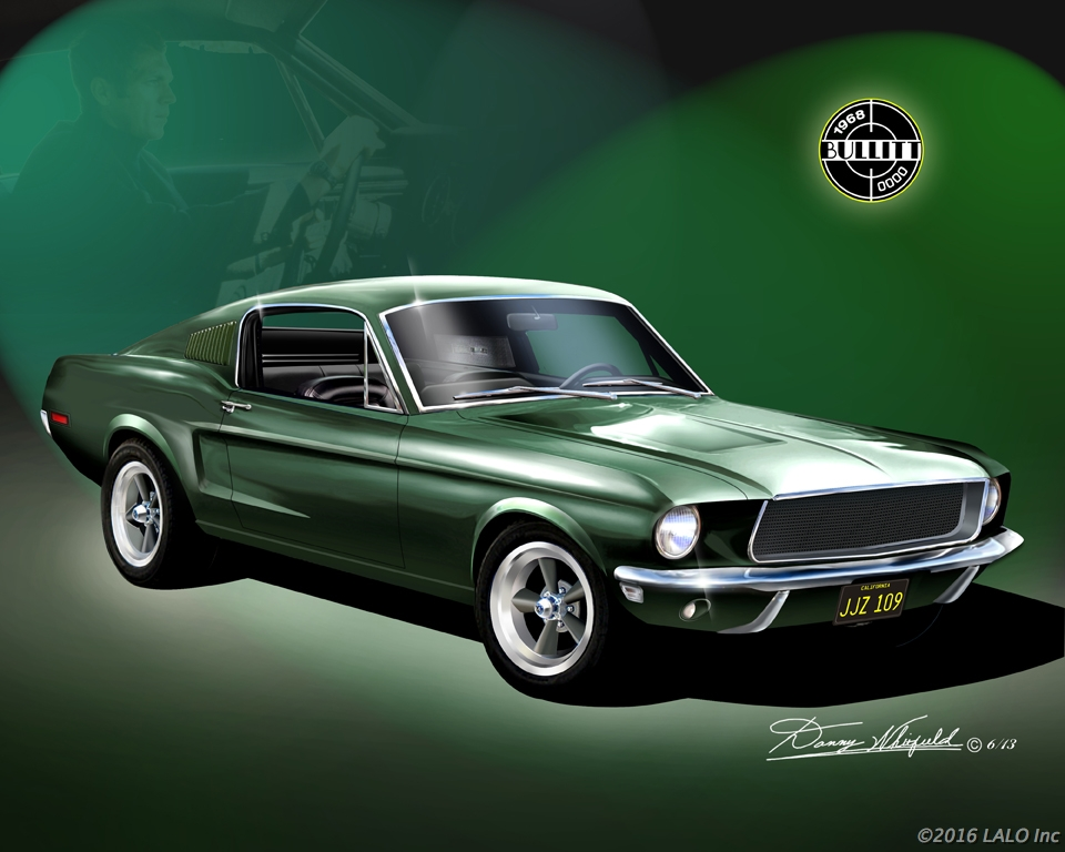 1968 Mustang Bullitt - Featuring Steve McQueen by Danny Whitfield
