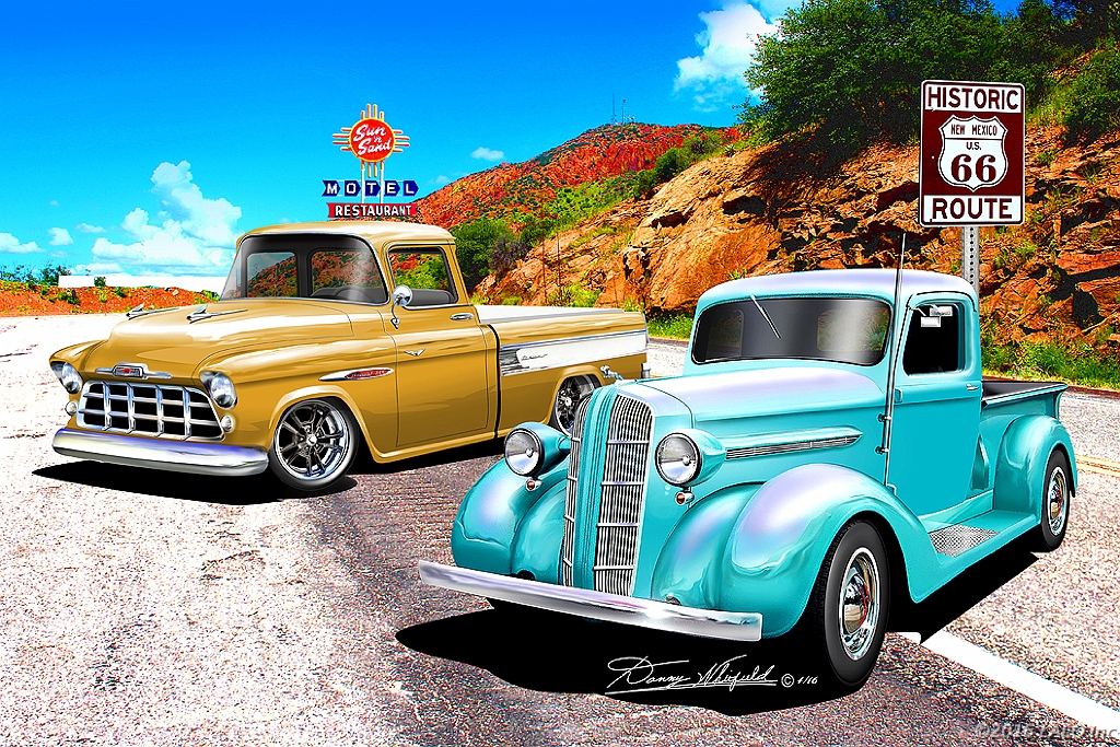 Its Show Time On Route 66 by Danny Whitfield