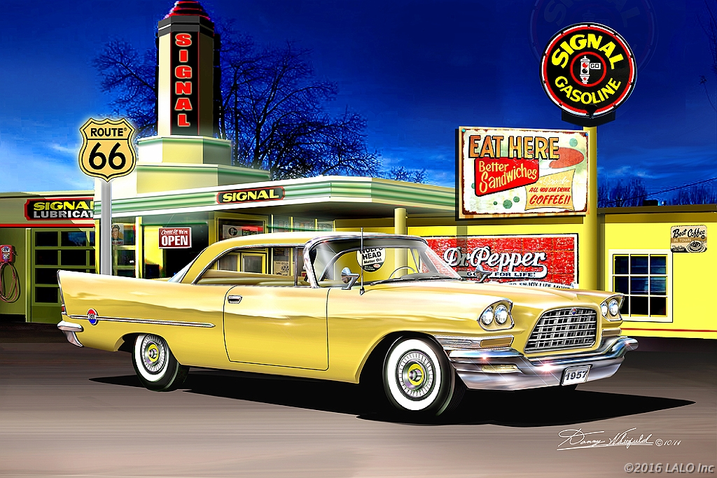 Route 66 At Signal Gas Station by Danny Whitfield
