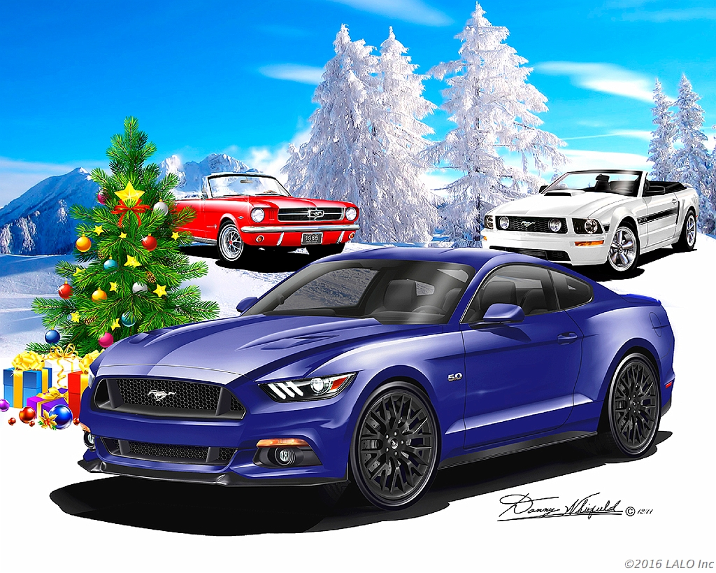 Merry Mustang Christmas by Danny Whitfield