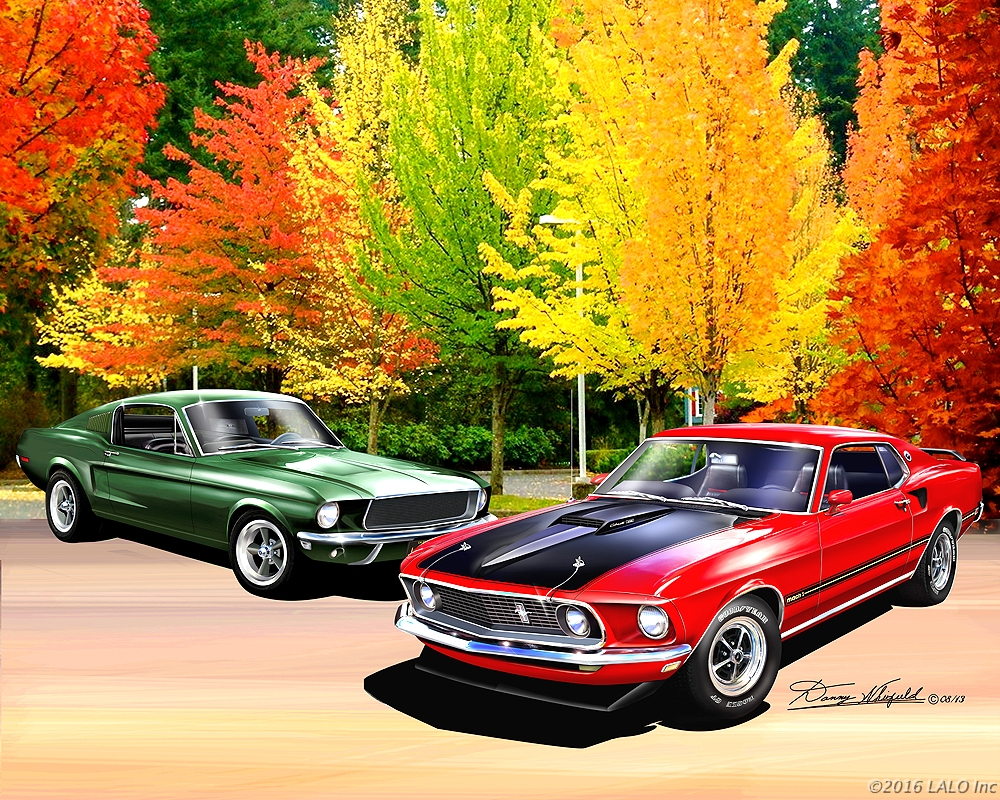 Mustangs In Autumn by Danny Whitfield