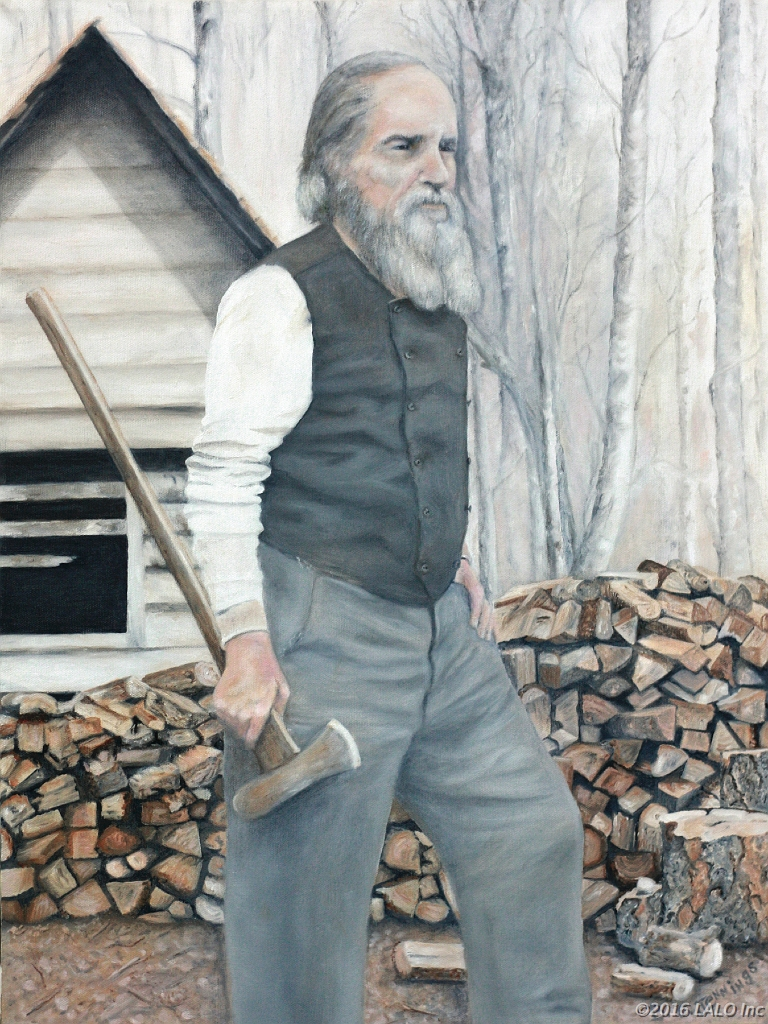 Robert Duval, Wood Chopper by Barbara E. Jennings