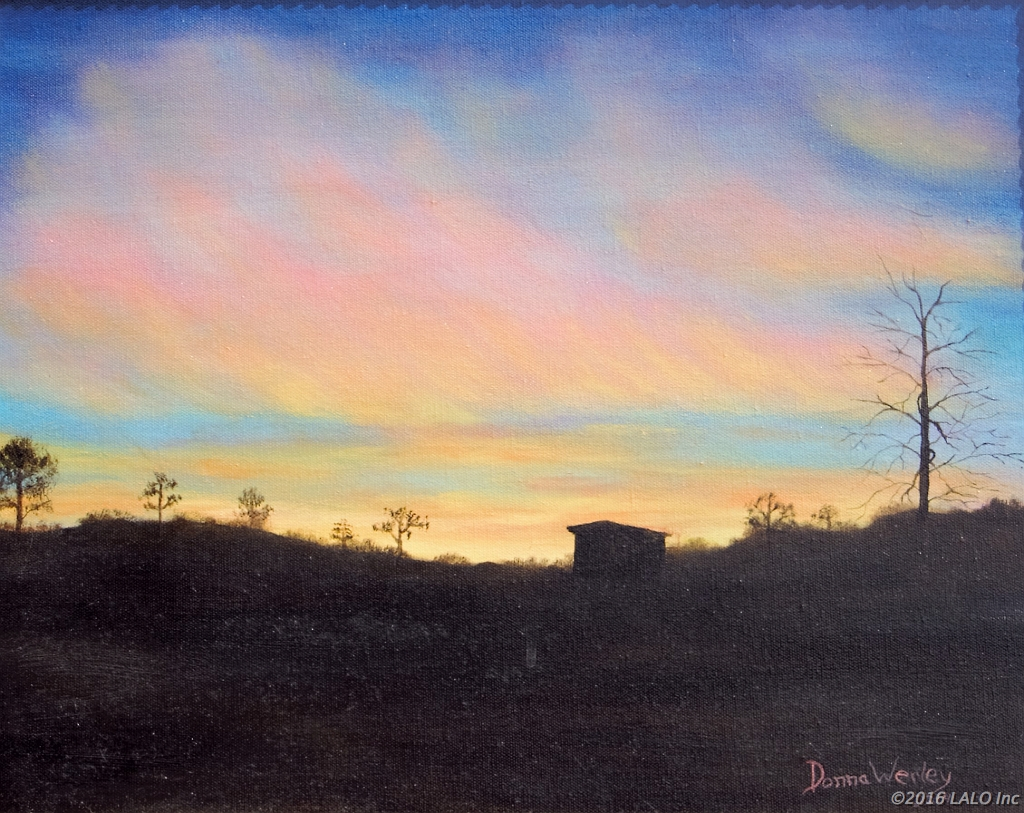 Mountain Sunset by Donna Jeanne Werley