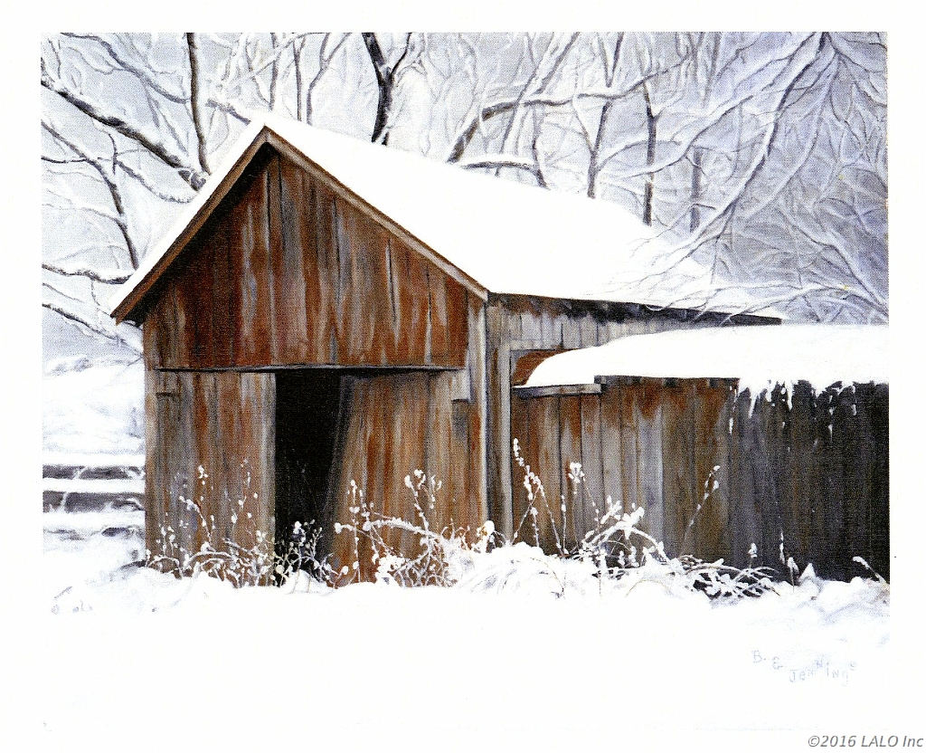 Storage Barn On Bentonville Road by Barbara E. Jennings