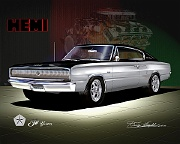 1967 Dodge Charger Hemi - 50 Years (Front View) by Danny Whitfield