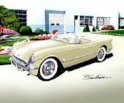 1955 Corvette Roadster by Danny Whitfield