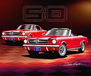 1965  Mustang 50th Birthday Celebration by Danny Whitfield