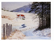 Updike Farm In Winter by Barbara E. Jennings