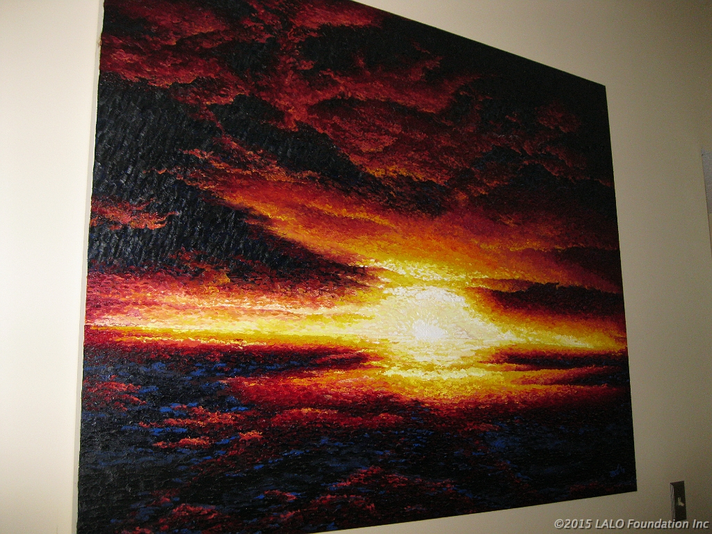 """Sunrise, Sunset"" 4'x6' by Nancy Daugherty"